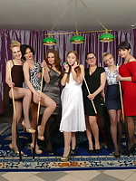 Seven old and young lesbians have a great time - Granny Girdles