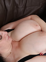 Big breasted housewife playing with her toy boy - Granny Girdles